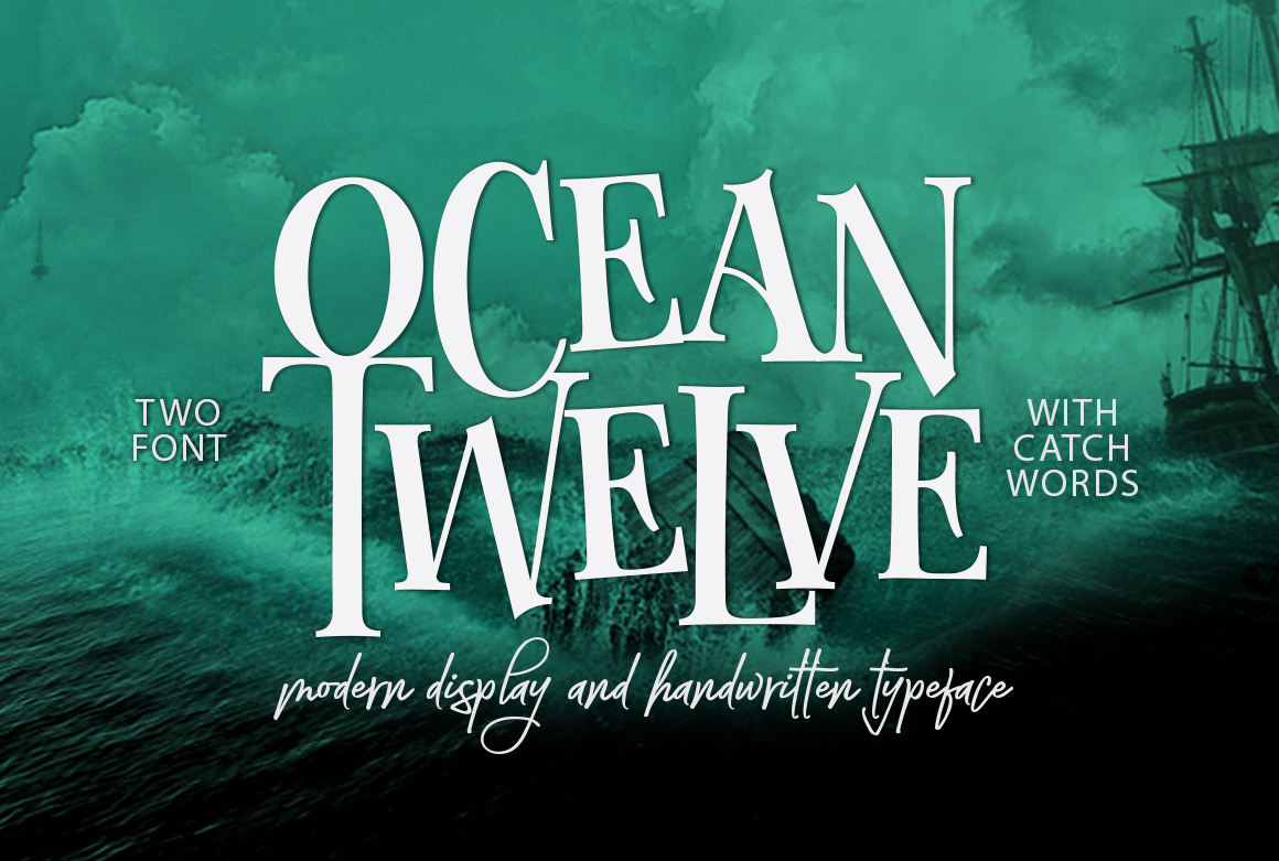 Ocean Twelve Display Font by joelmaker