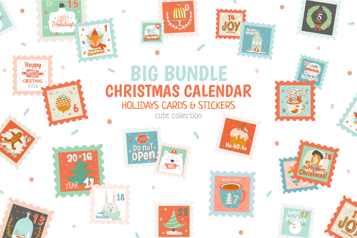 Christmas Scrapbooking Graphics by Ruslana Vasiukova