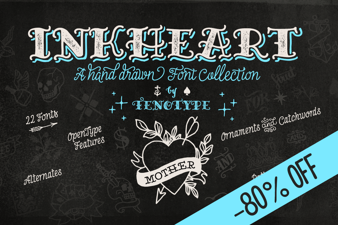 Inkheart: The Perfect Tattoo Font by Fenotype
