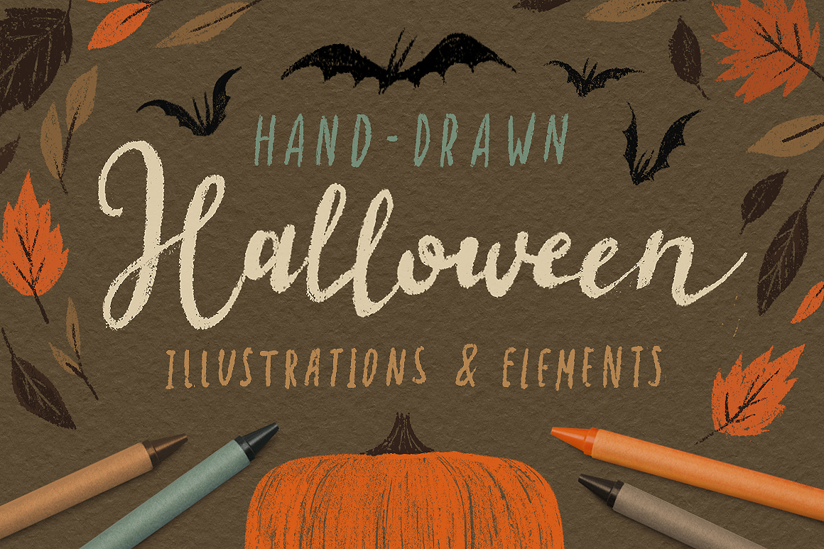 Halloween illustrations and design elements by Darumo