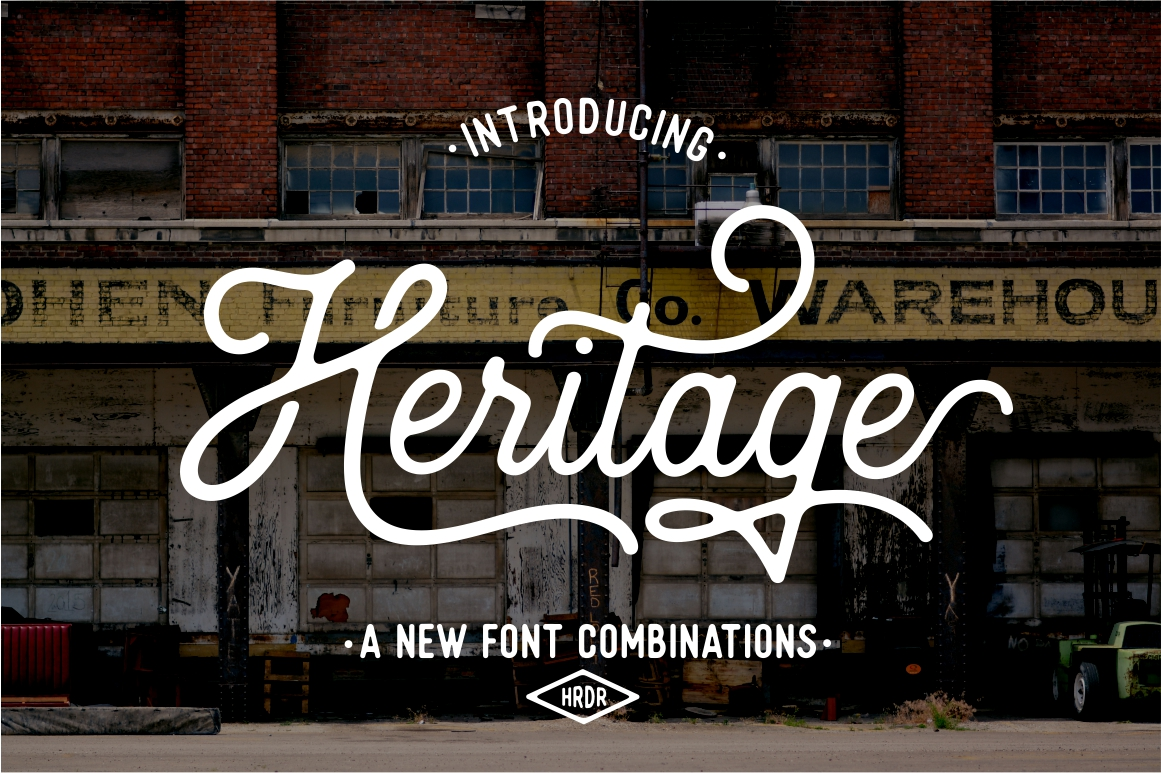 Heritage Font Combinations by Harder Type Foundry