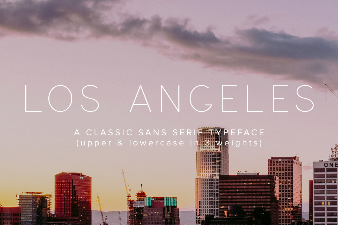 Los Angeles - A Classic Sans Serif Typeface by Jen Wagner Co