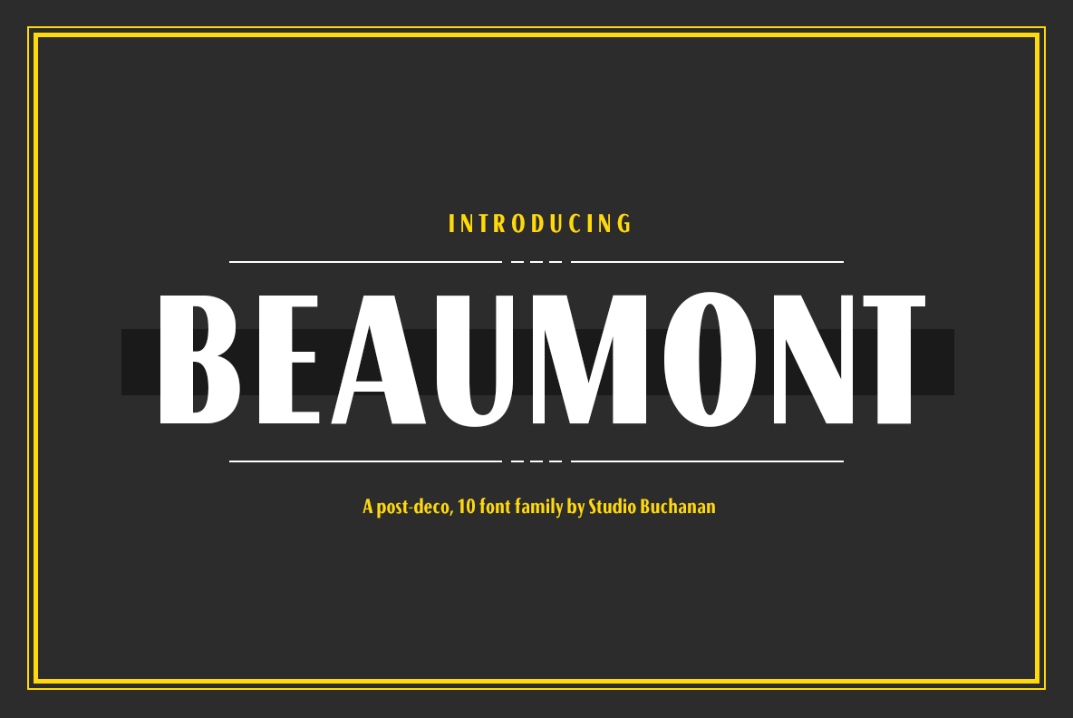 Beaumont: A Classical Deco Font by by Studio Buchanan