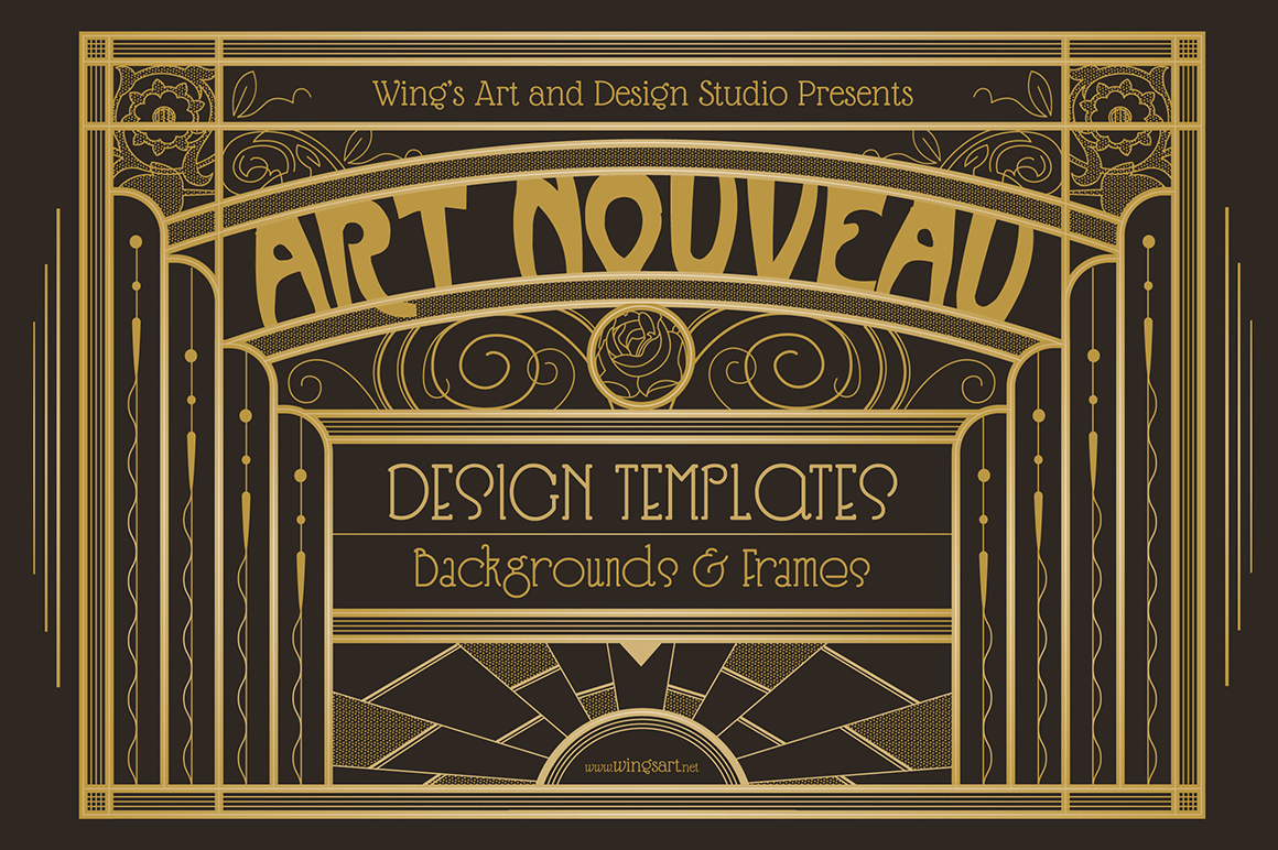 Art Nouveau Backgrounds and Free Trial by Wingsart