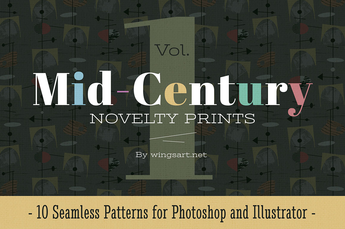 Mid-Century Novelty Prints - Vol 1 by wingsart