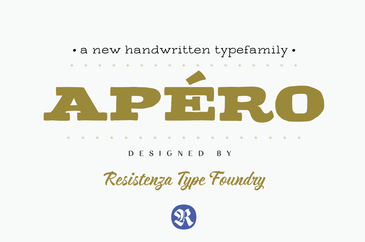 Apéro - A handwritten font by by Rsz Type Foundry