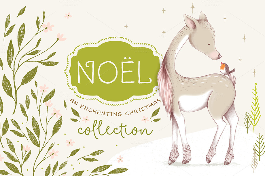 Noël Christmas Graphics Collection by Lisa Glanz