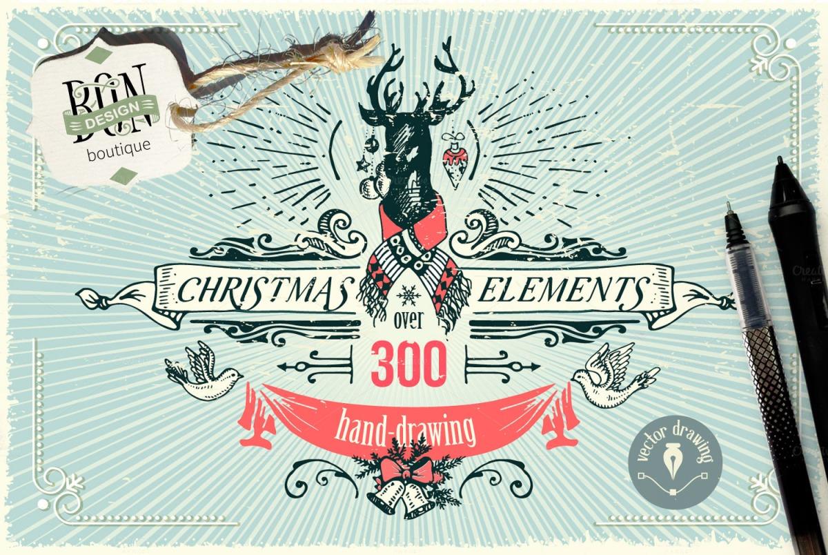 Christmas Designer's Graphics Bundle by BON-design