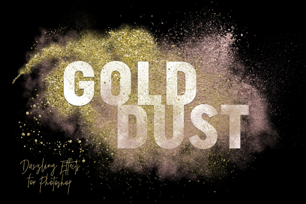 Gold Dust Glitter Effects by Alaina Jensen