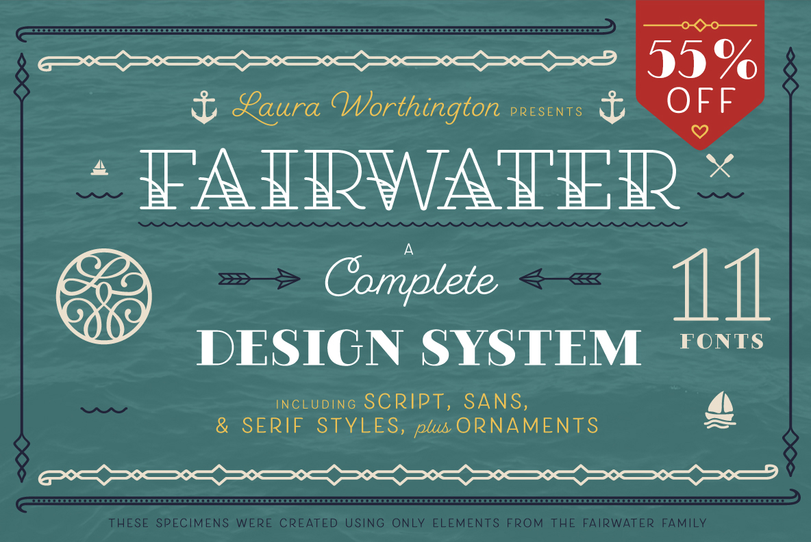 The Fairwater Collection - The Perfect Tattoo Font by Laura Worthington