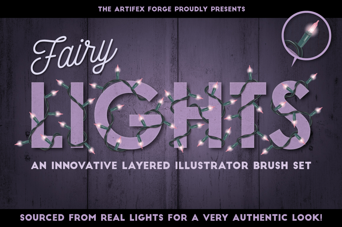 Fairy Light Brushes for Illustrator by The Artifex Forge