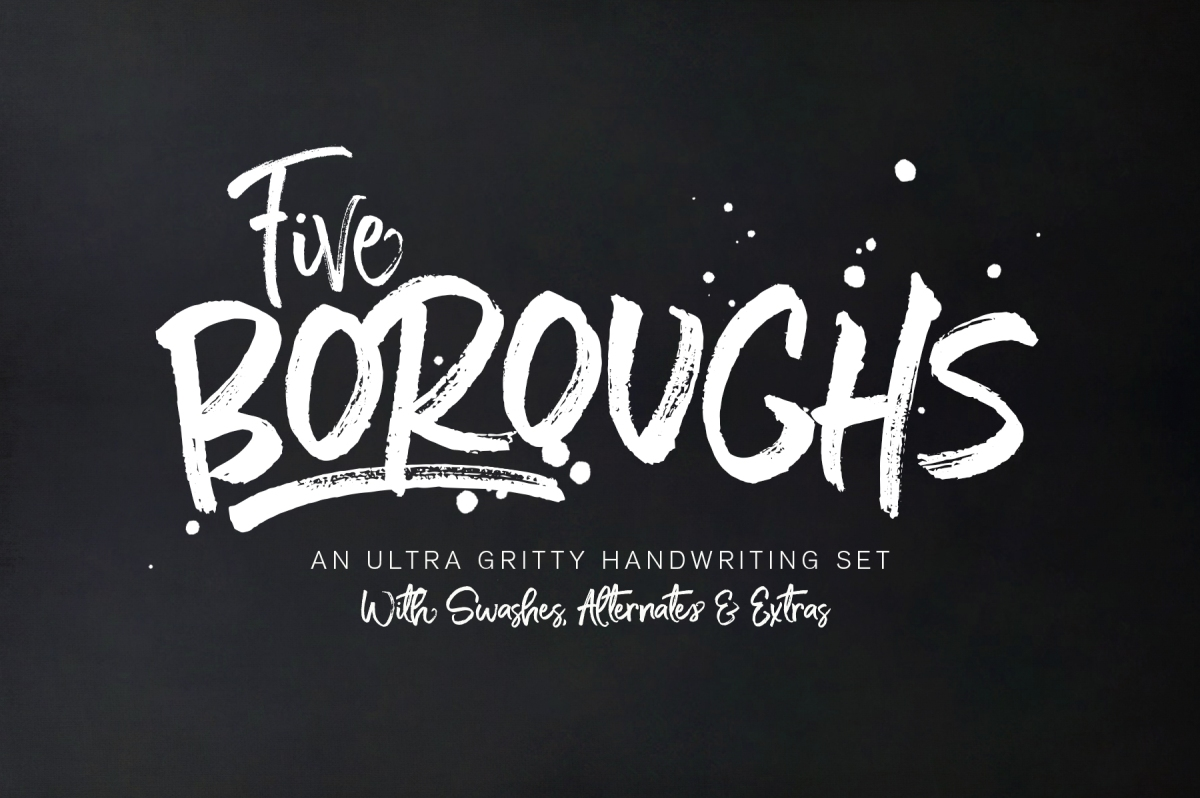 Five Boroughs Fonts by Callie Hegstrom