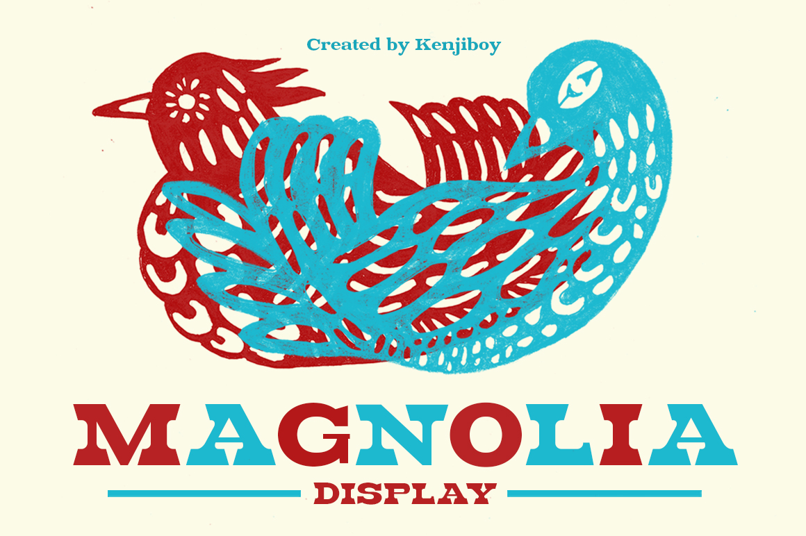 Buy Magnolia: The Retro Font by kenjiboy
