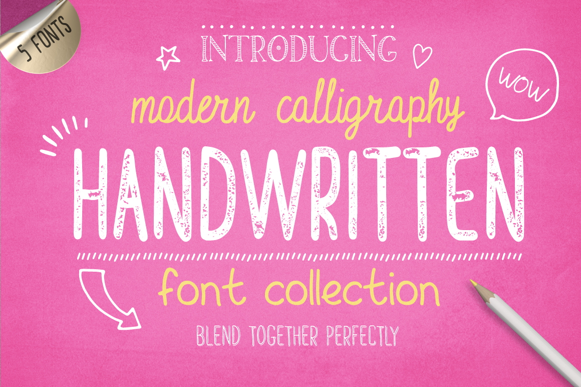 Handwritten Font Collection by Julia Dreams