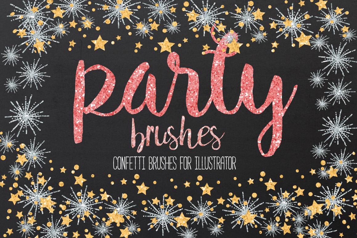 Confetti and Glitter Party Brushes for Illustrator by lunalexx