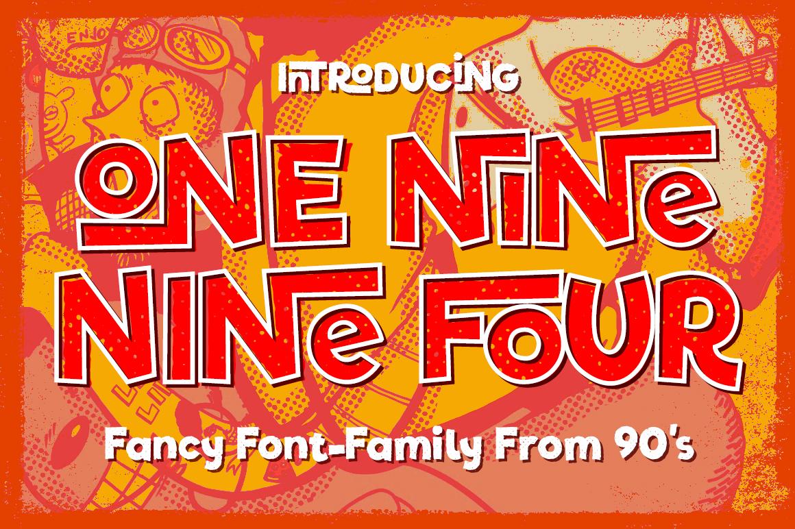 One Nine Nine Four Font by Vintage Voyage Design Co.