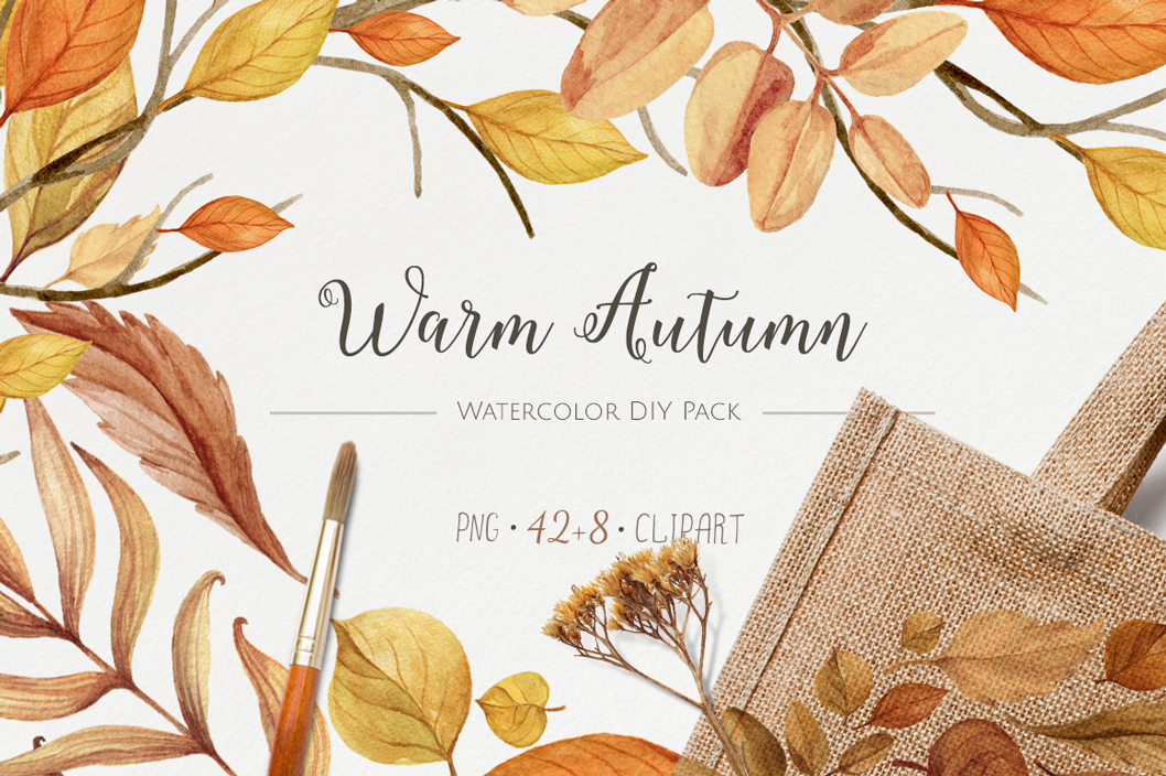 The Warm Autumn Watercolor Pack by NataliVA