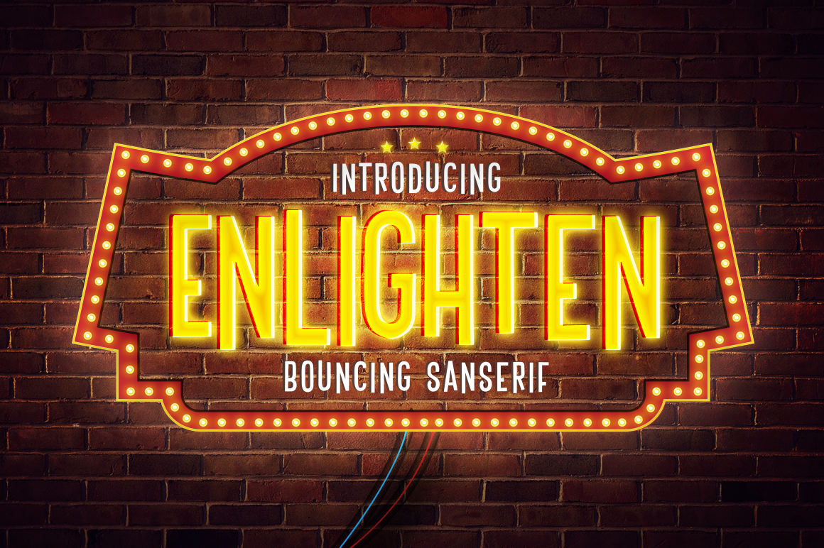 Buy Enlighten: The perfect comedy club font by Flavortype