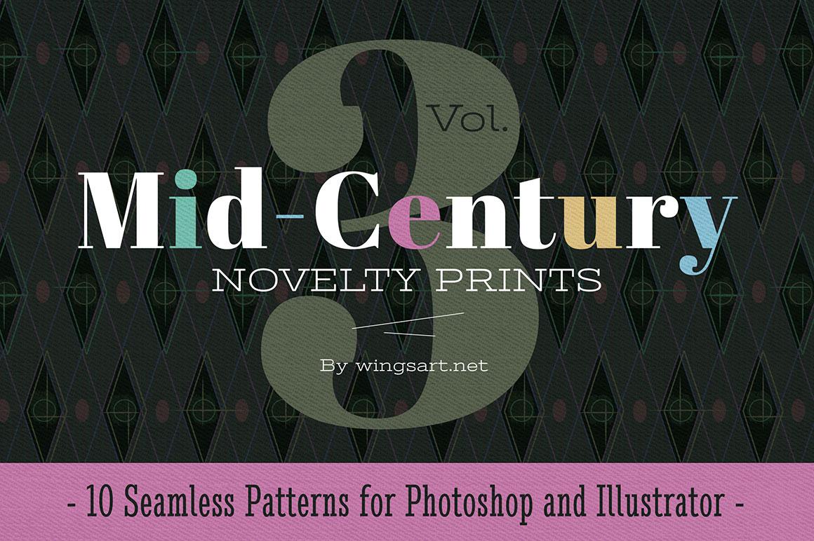 Mid Century Novelty Prints Vol 3 By Wingsart Hug A