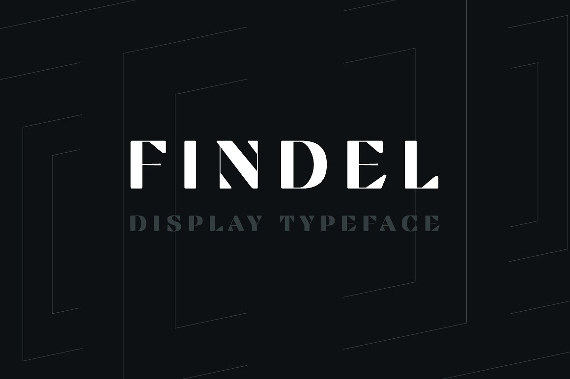 Findel Modern Display Typeface by Ufuk Aracıoğlu