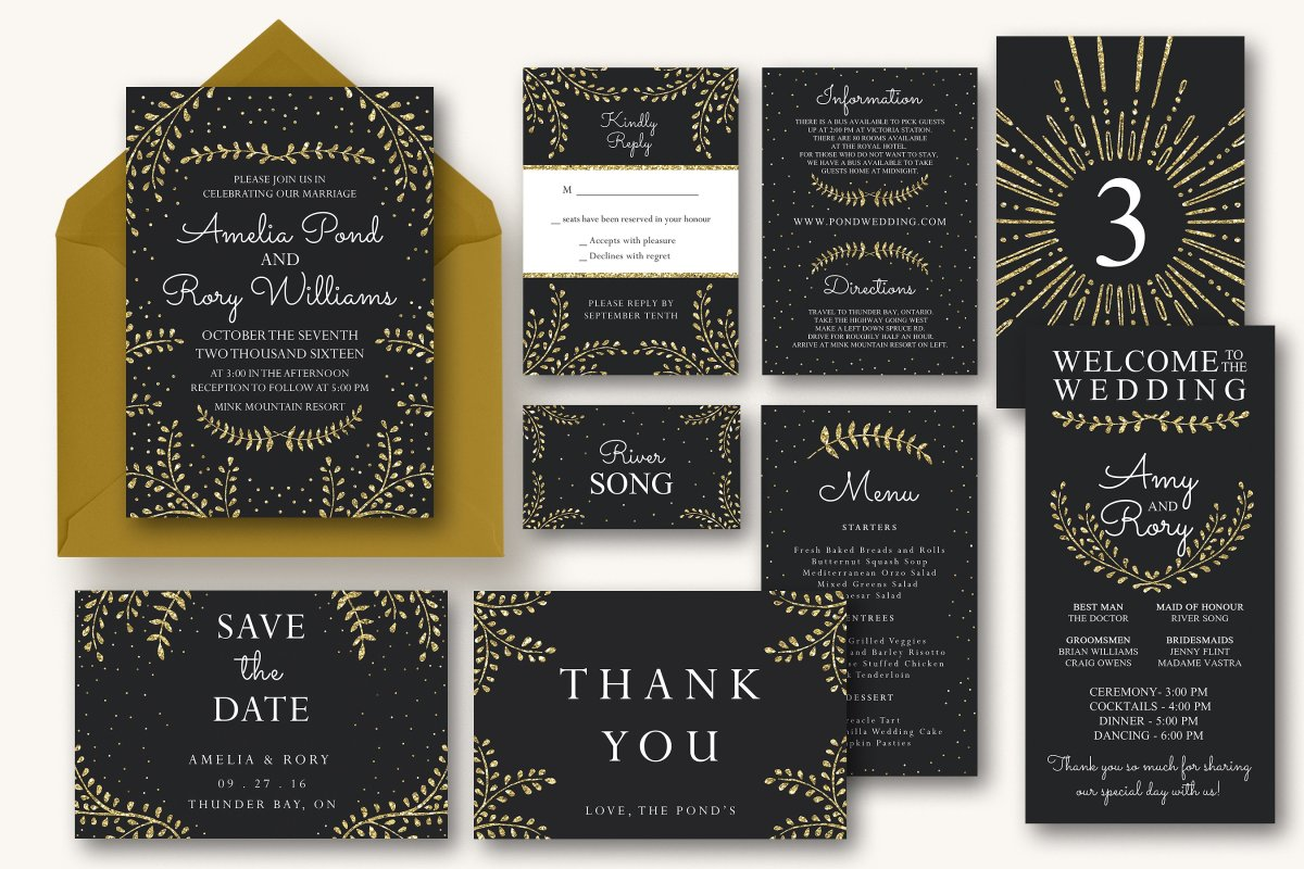 New Years and Wedding Invitation Suite by Knotted Design