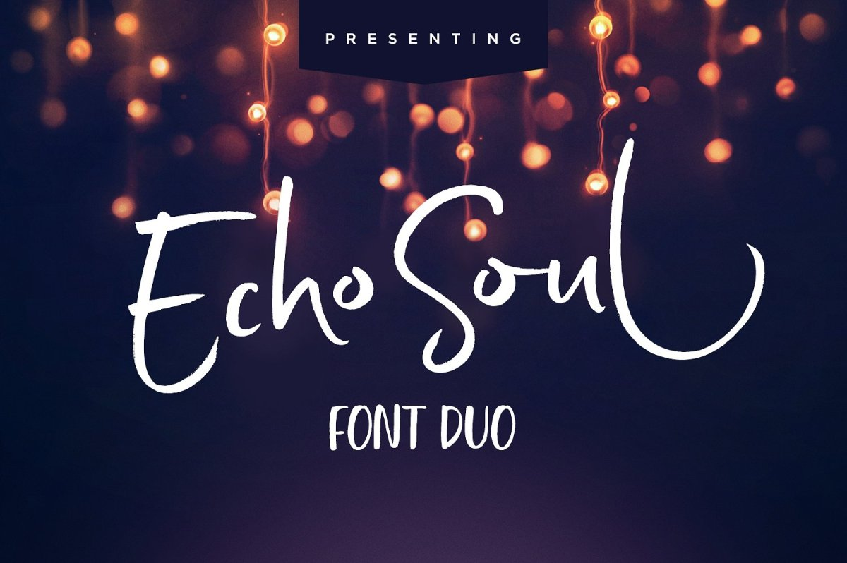 Echo Soul Font Duo by Sam Parrett
