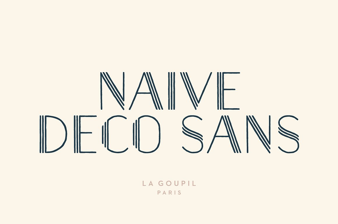 Naive Deco Sans Font Pack by La Goupil Paris