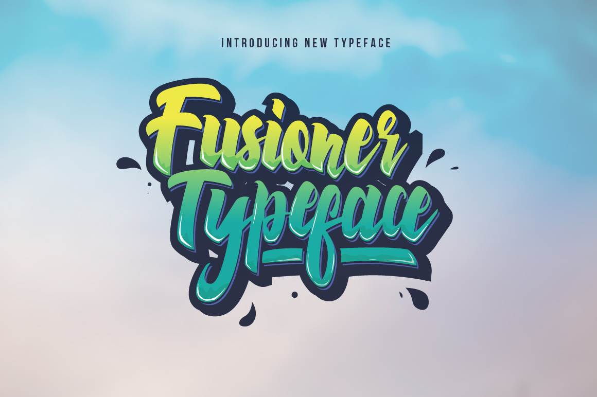 Surf and Skate Font: Fusioner by Ovoz