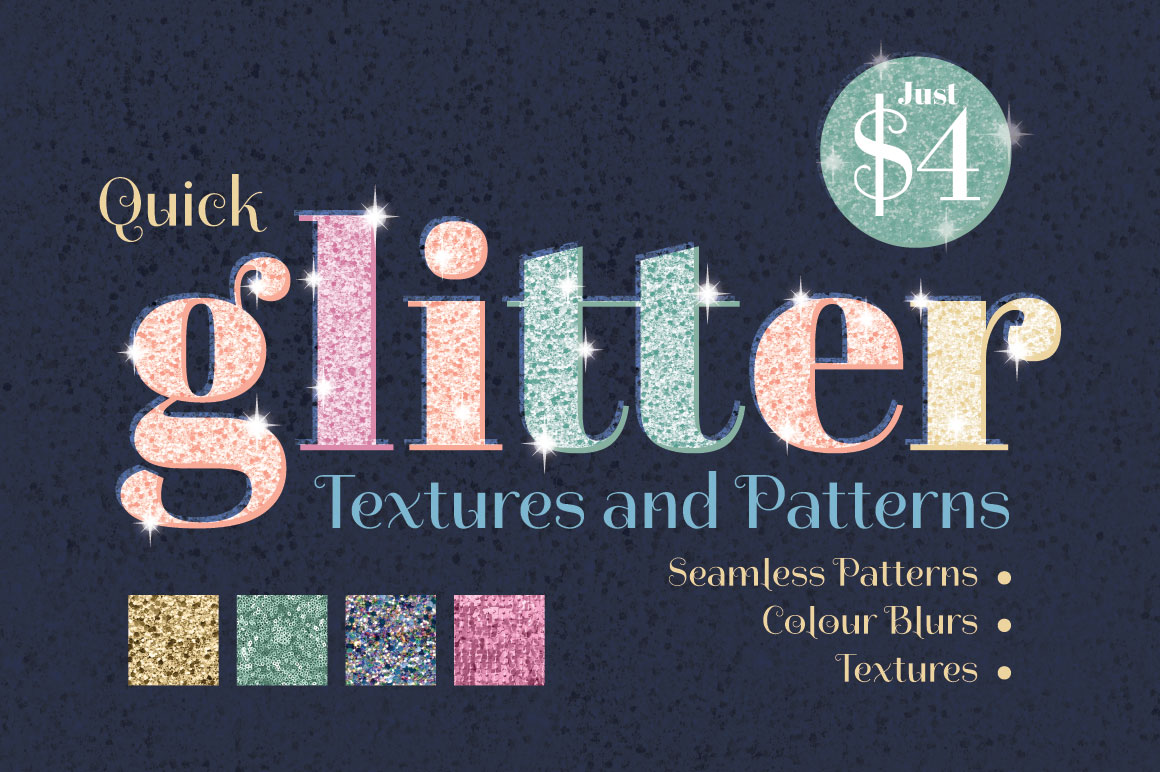 Quick Glitter Textures and Patterns by Wingsart