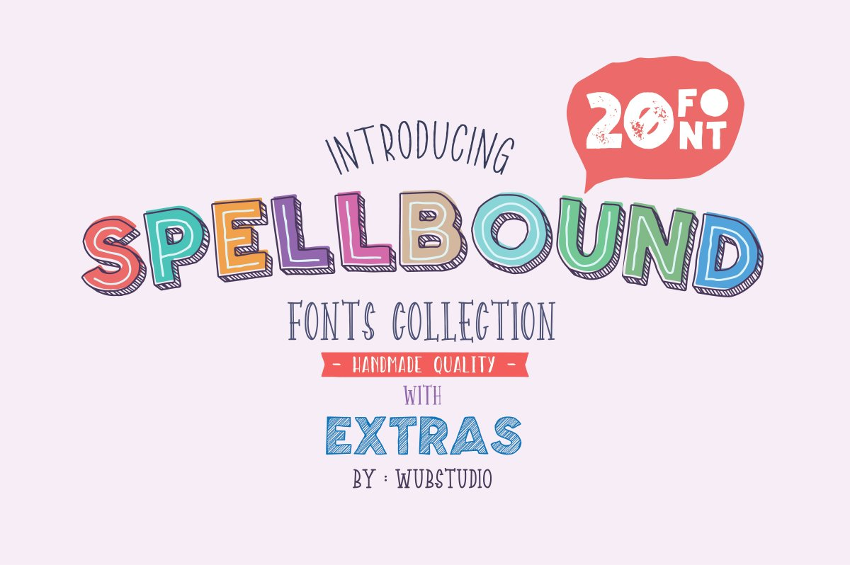 Spellbound: The Children's Book Font Families by wubstudio