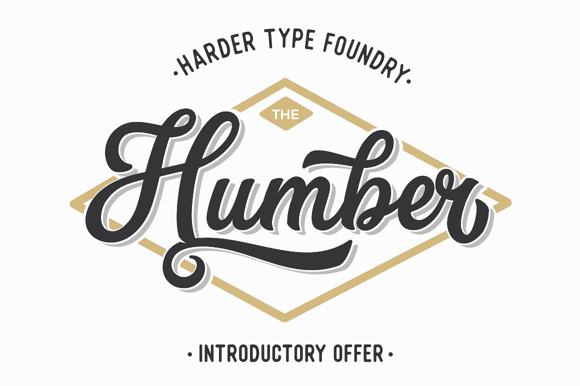 The Humber: A perfect retro sports font by Harder Type Foundry