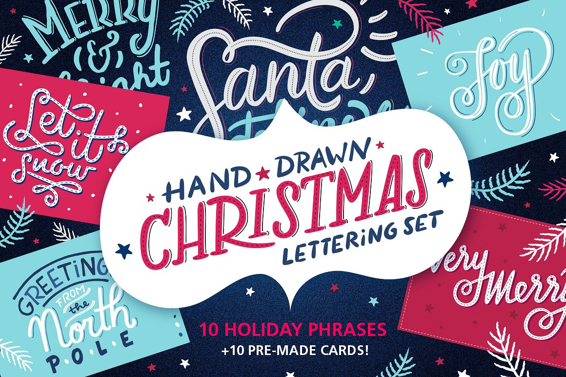 Christmas Lettering and Holiday Cards by Alexandra Deus
