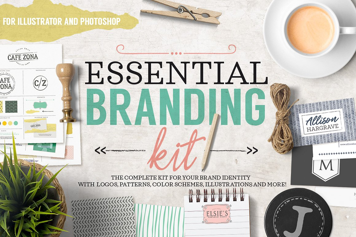 Essential Branding Kit by 7th Avenue Designs