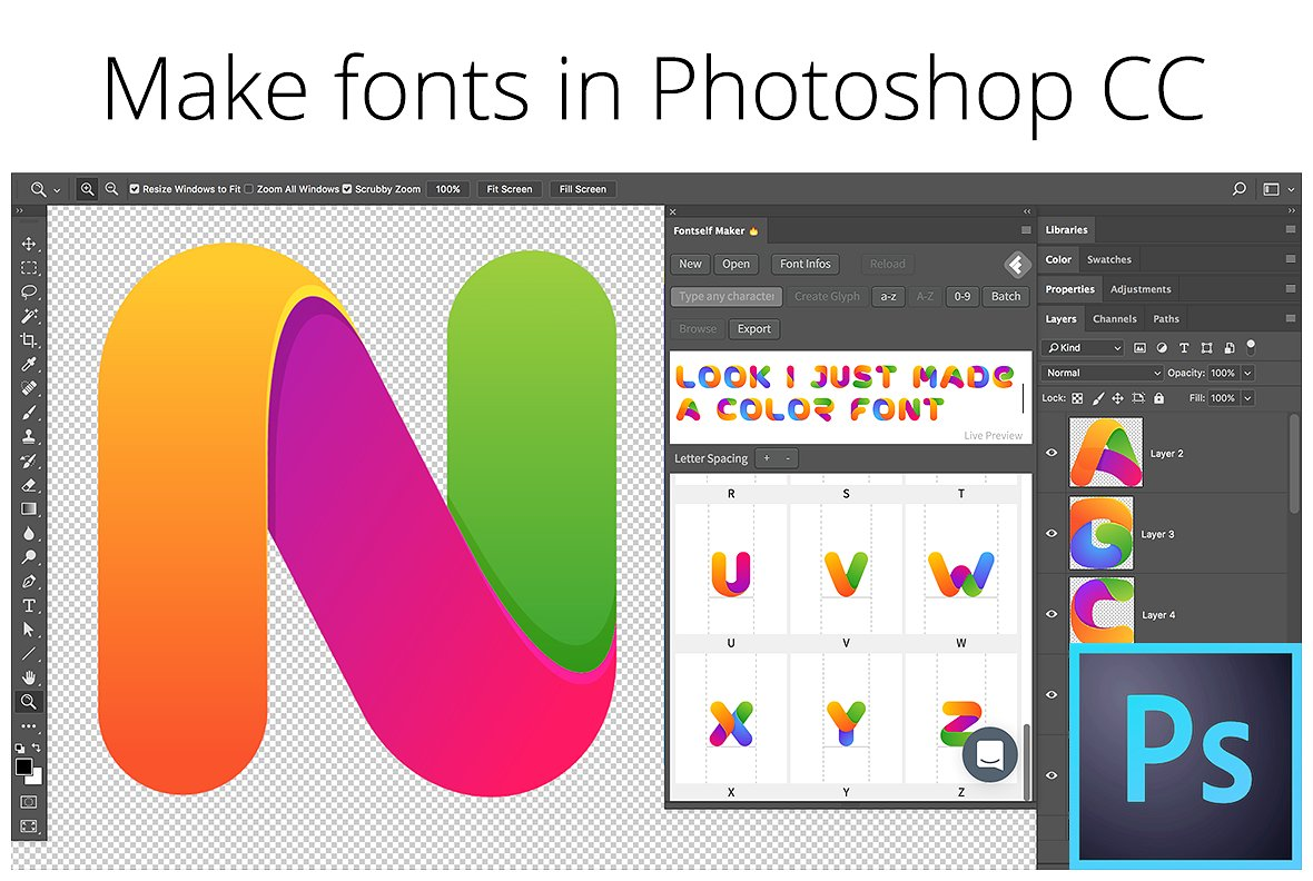 Make fonts in Photoshop by Fontself