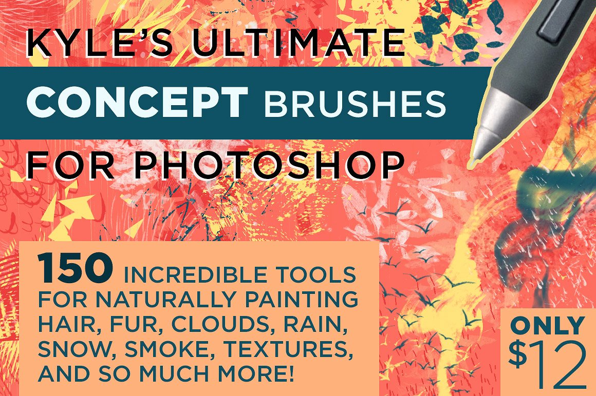 KYLE'S CONCEPT BRUSHES FOR PHOTOSHOP by Kyle's Pro Design Tools