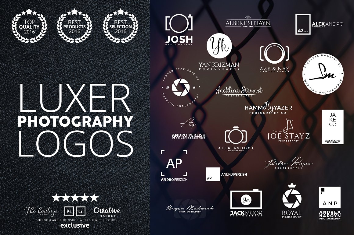 The LUXER 95 Photography BUNDLE by The Heritage Co.