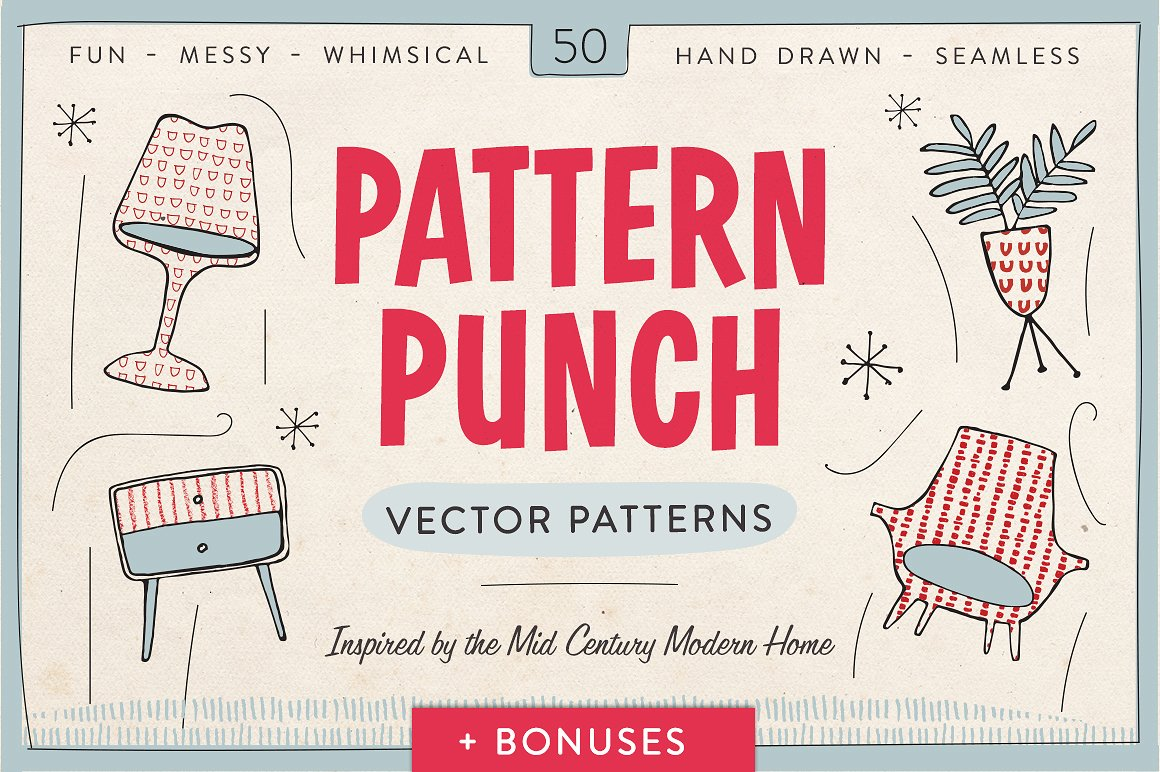 Pattern Punch - 50 Vector Patterns by Greta Ivy