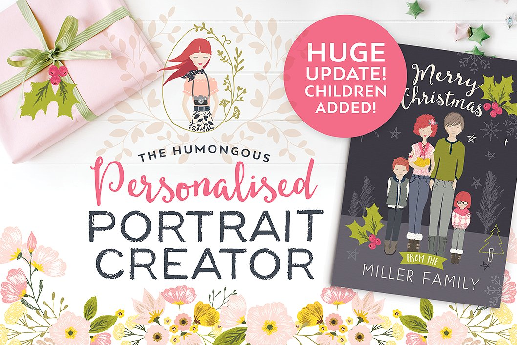 Personalised Portrait Creator for Kids and Grown Ups by Lisa Glanz