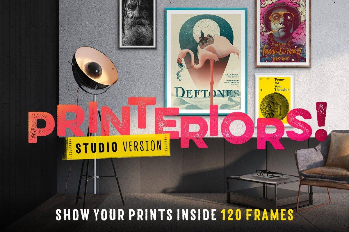 Printeriors Studio! Frame Mockups by Frisk Shop