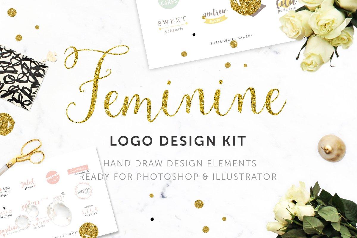 Feminine Logo Design Kit by nordic.arg