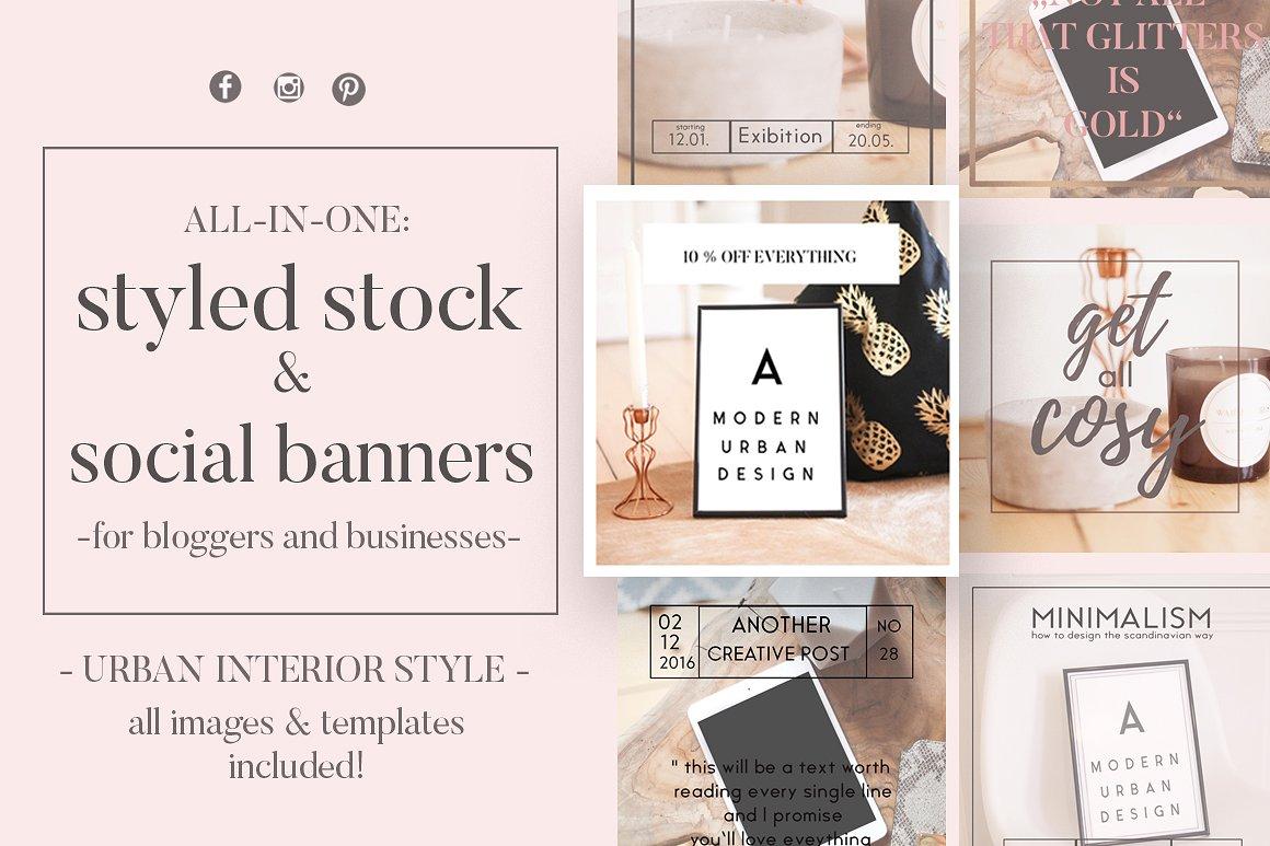 Mock Up & Social Media Banner Bundle by Laras Wonderland