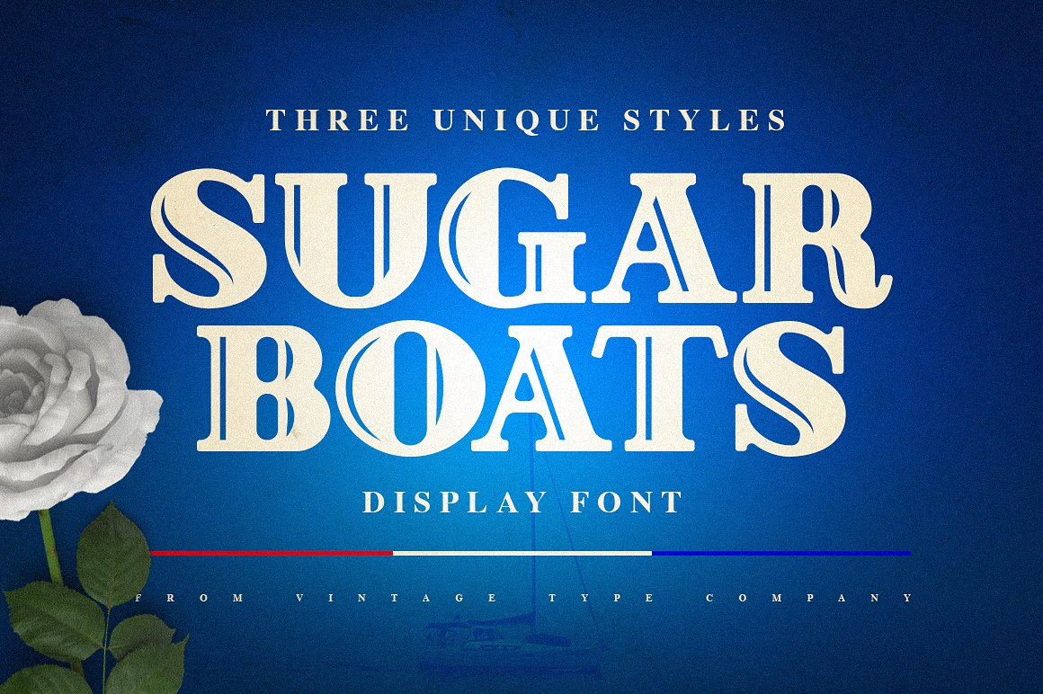 Sugar Boats Display Font by Vintage Type Co.