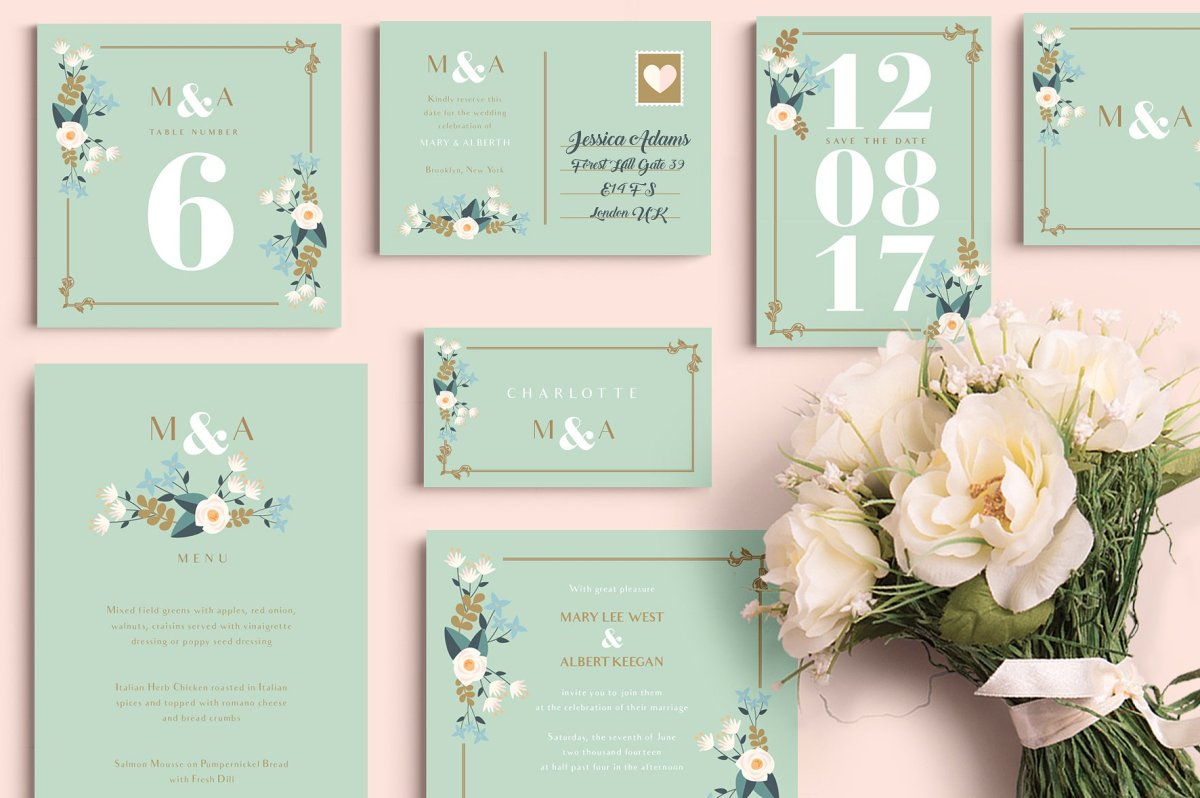 Pear Theme Wedding Set by Werlang Paper