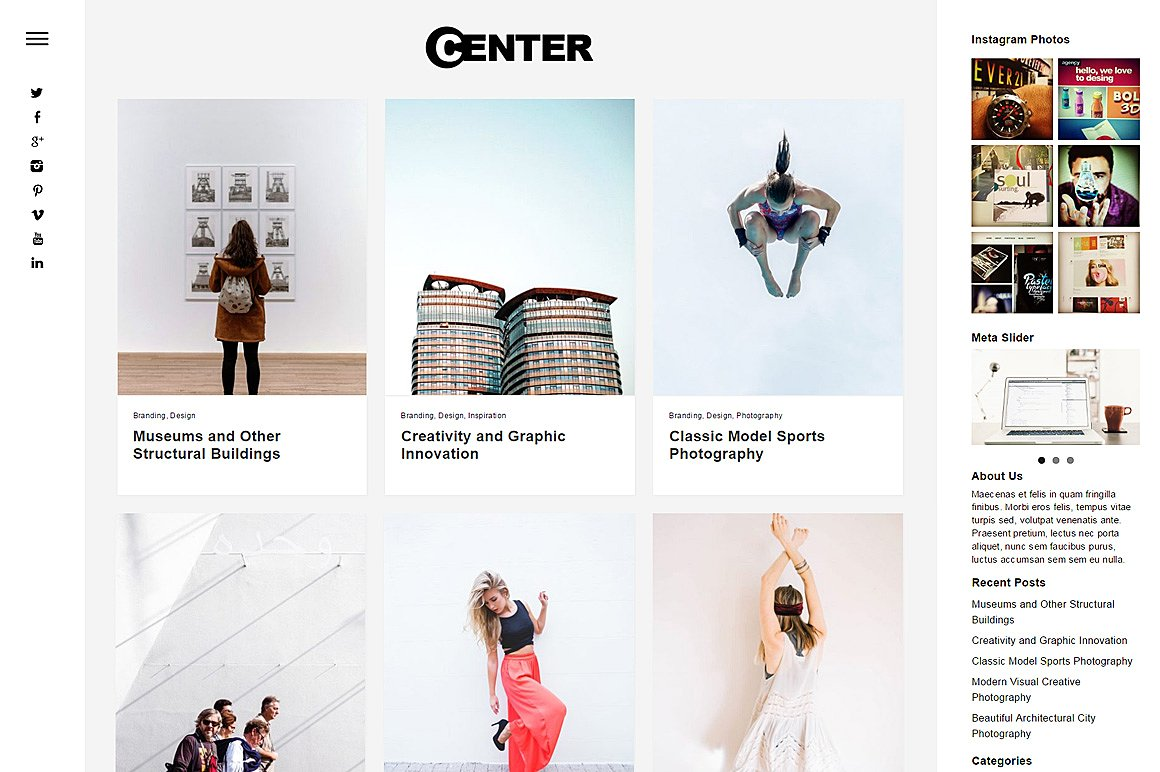 Center Portfolio & Blog Theme by Dessign