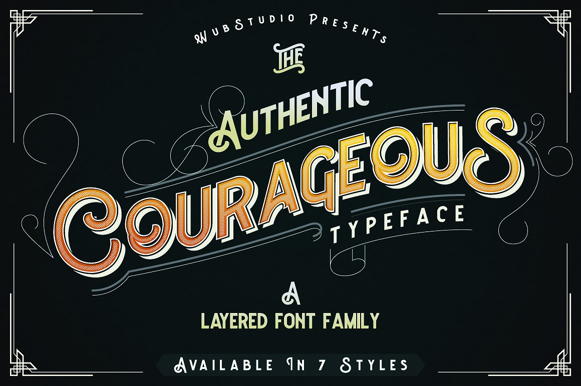 Courageous Antique Typeface by wubstudio