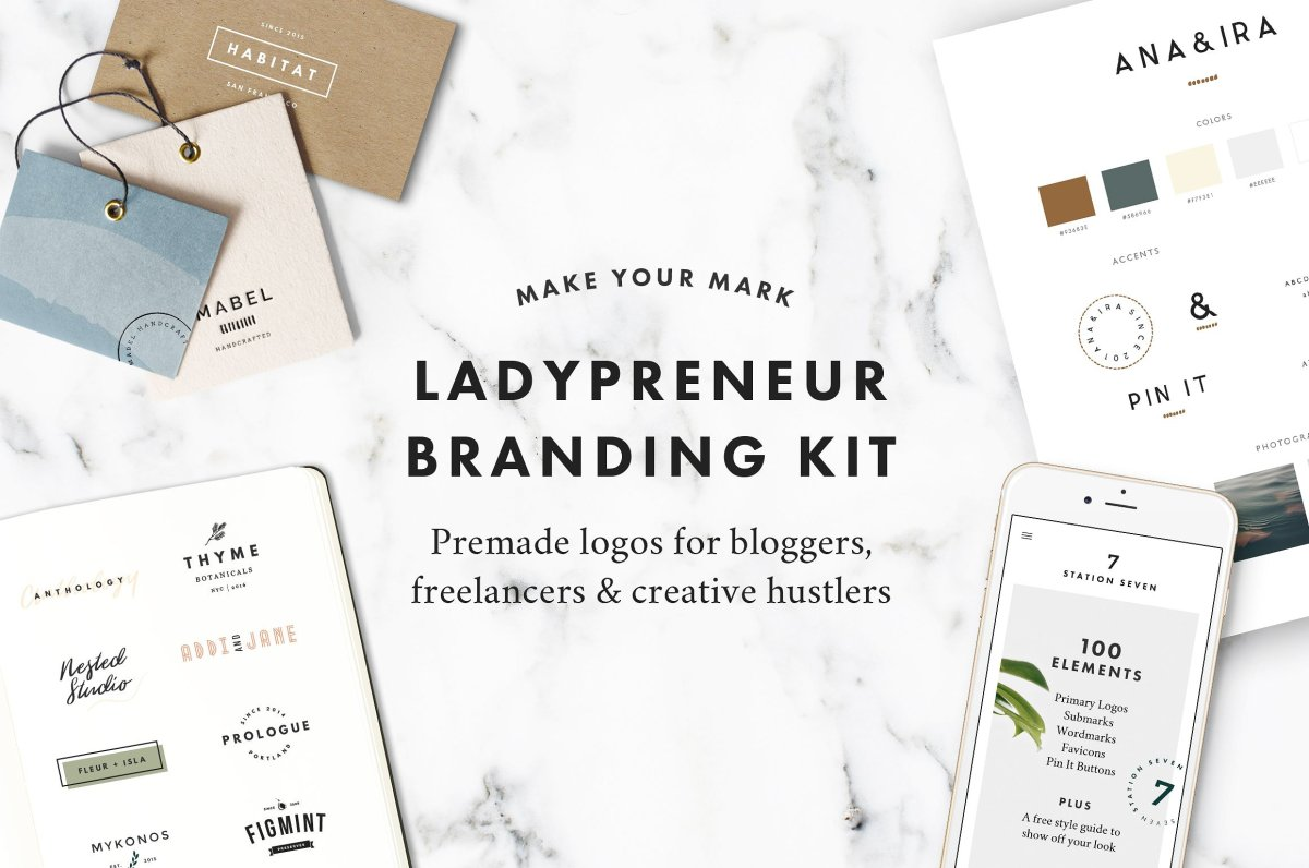 Ladypreneur Branding Kit by Station Seven 30% Off!