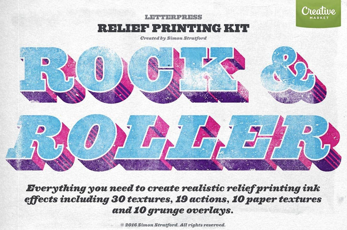Rock & Roller Letterpress photoshop by It's me simon