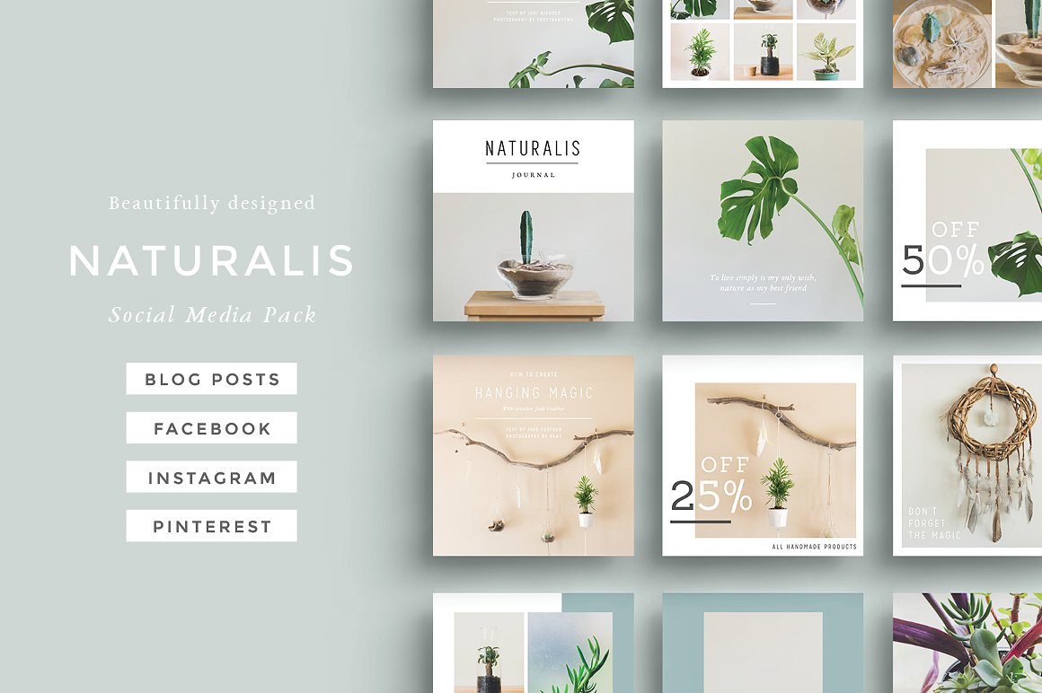 NATURALIS Social Media Pack by 46&2 Collective