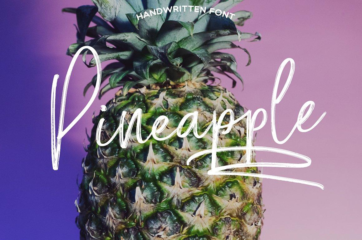 Pineapple Script Font by Mellow Design Lab