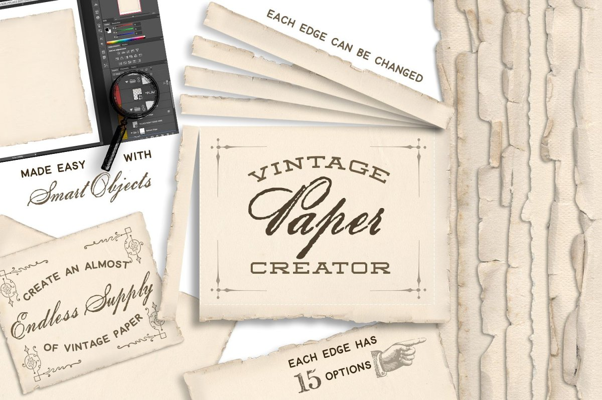 Vintage Paper Creator by Eclectic Anthology